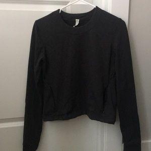 Lululemon cut out gray sweatshirt 💕💕💕💕💕